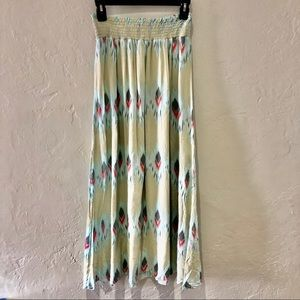 Boho southwest print maxi skirt